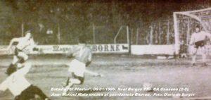 85-86 Real Burgos - CA Osasuna. Copa del Rey