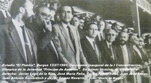 COJ´91. Ceremonia Inaugural. El Plantío (Burgos), 13-07-1991 (7)