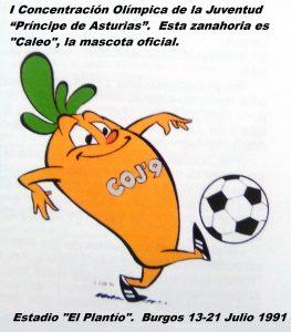 COJ´91. Mascota oficial (Burgos 13 a 21 de julio 1991).