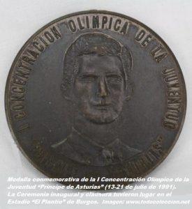 COJ´91. Medalla conmemorativa (Burgos 13 a 21 de julio 1991). (2)